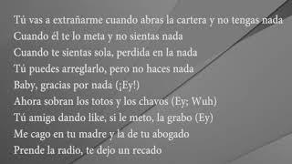 Bad Bunny - Ni bien ni mal (Lyrics)