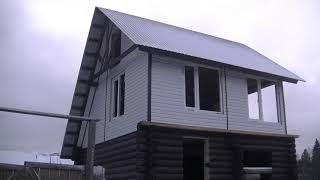Дом на берегу реки Продолжение стройки Рамы окна и дверной проём Судоверфь Коми край Ukhta