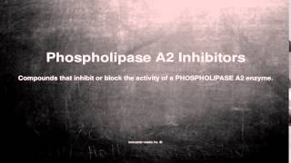 Medical vocabulary: What does Phospholipase A2 Inhibitors mean