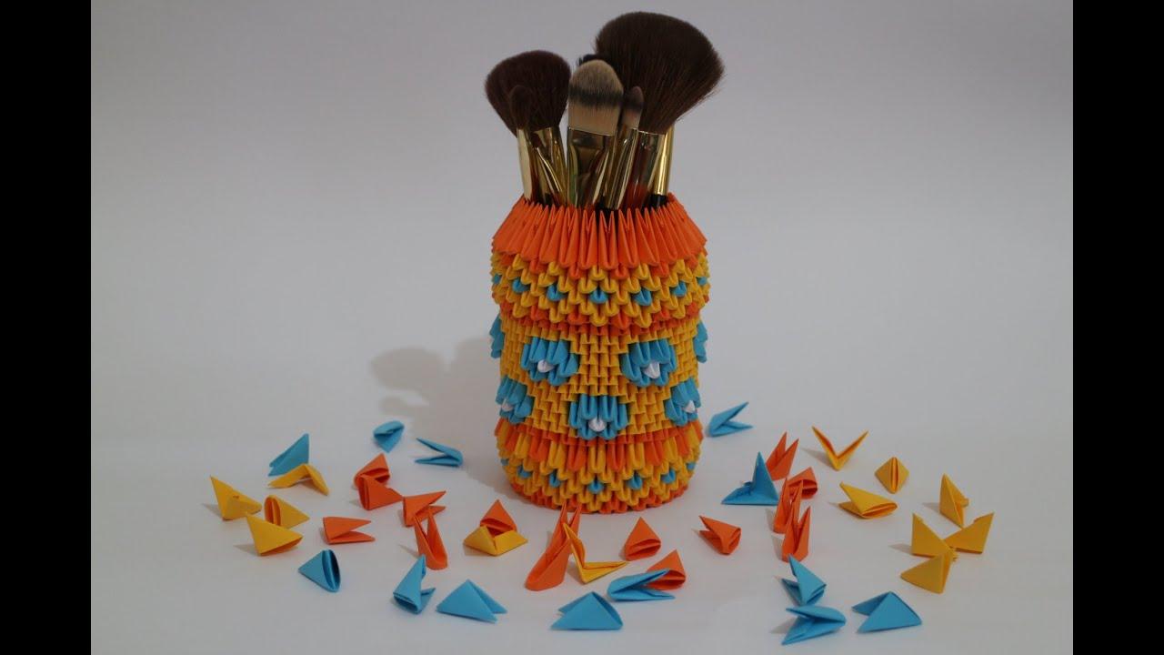 DIY: Pen & Pencil Holder !!! How to Make Origami Hexagonal Pen ... | 720x1280