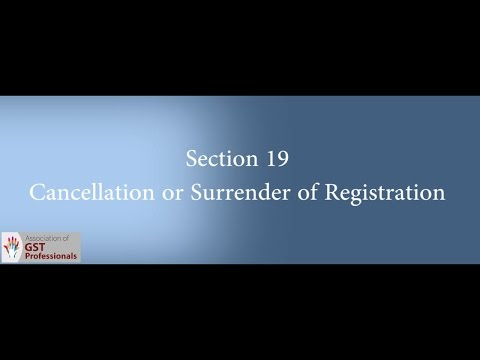 Cancellation of Registration