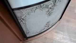 Радиусный шкаф-купе(Краткое видео радиусного шкафа-купе в салоне. Изготавливаем радиусные шкафы-купе любых размеров по индиви..., 2016-11-28T09:52:08.000Z)