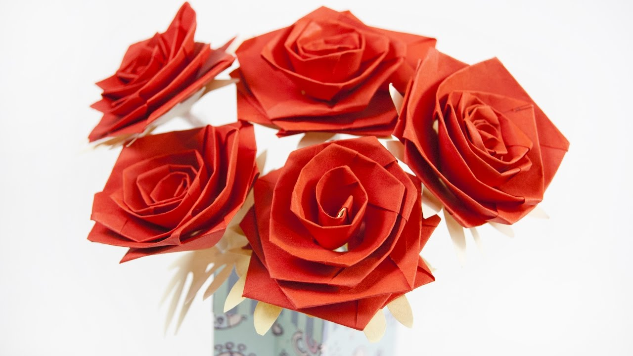 How to make a paper flower rose youtube how to make a paper flower rose mightylinksfo