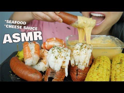 ASMR LOBSTER TAIL + GIANT SHRIMP + CHEESE SAUCE (EATING SOUNDS) NO TALKING | SAS-ASMR