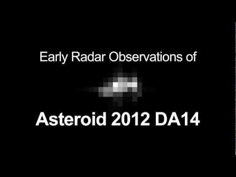 Spinning Space Rock! Radar Observations of Asteroid 2012 DA14