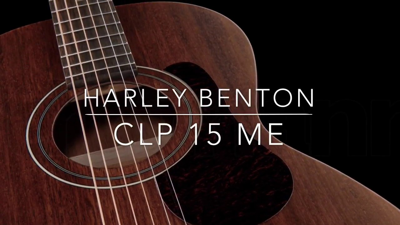 Harley Benton CLP 15 ME mahogany parlour guitar test