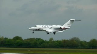 cessna 525c citation cj4 landing taxi takeoff groningen airport eelde