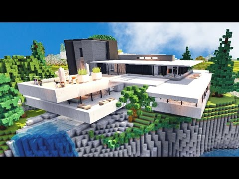belle maison villa de luxe sur minecraft youtube
