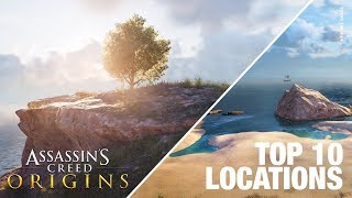 Top 10 Locations in Assassin's Creed Origins / Most Beautiful Places