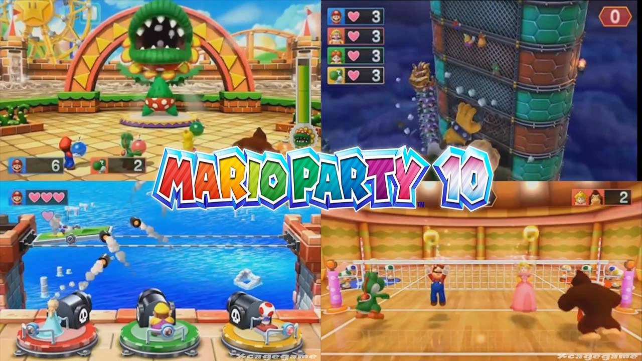 Mario Party 10 - 37 Minigames , Boss Battles & Bowser Minigames Gameplay -  Wii U