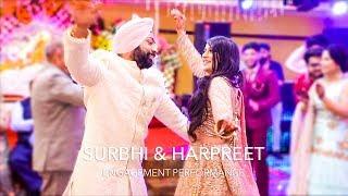 Surbhi & Harpreet | Epic Dance Performance | Best Punjabi Sikh Engagement