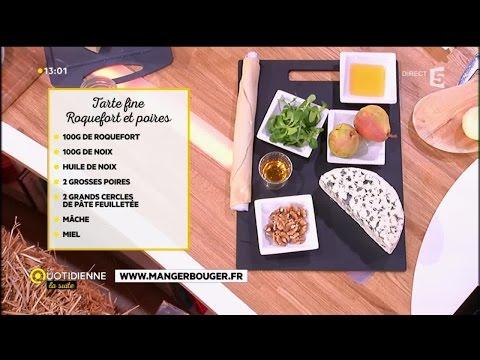 recette-:-tarte-fine-roquefort-et-poires