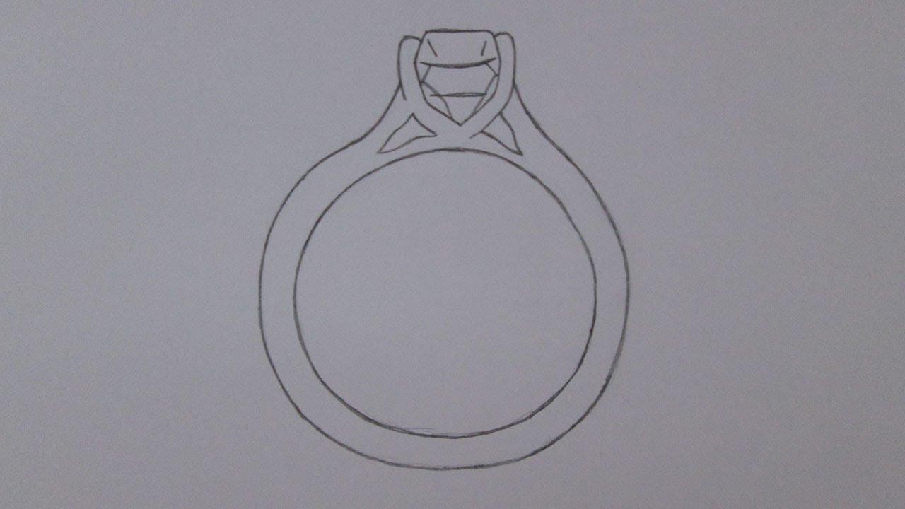 Super Como desenhar um anel de diamantes - YouTube LB87