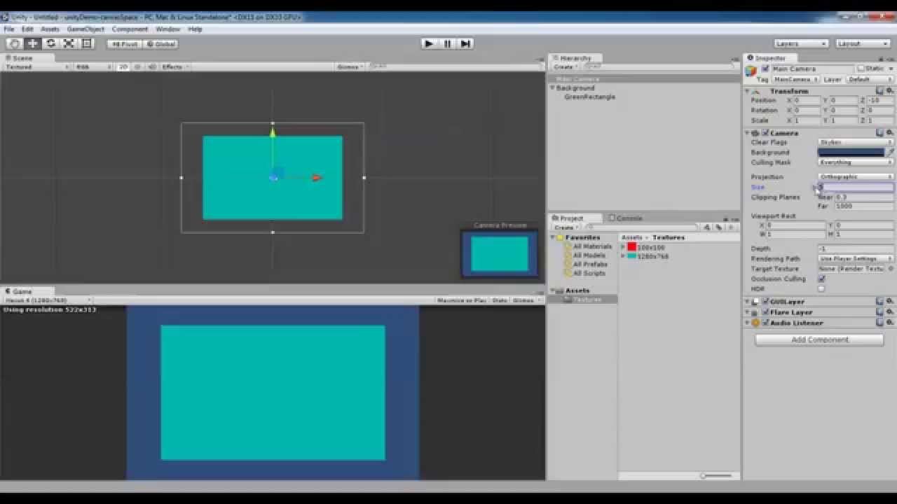 Unity 2D Ray Tracing Canvas UI Elements