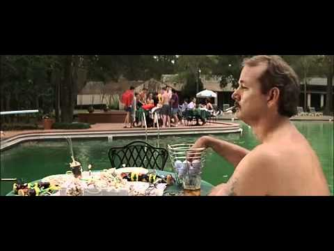 Bill Murray diving an ...