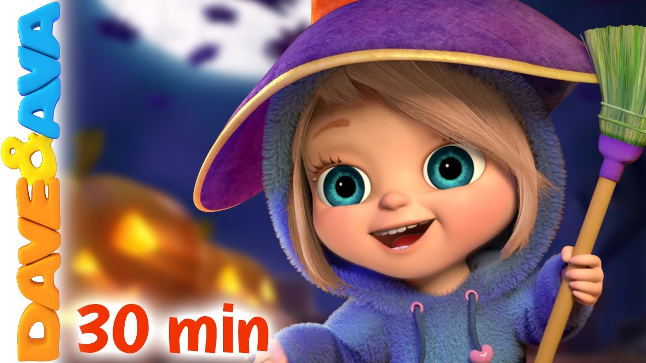 👻  Five Little Kittens and More Halloween Songs | Nursery Rhymes by Dave and Ava 👻