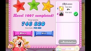 Candy Crush Saga Level 1007    ★★★   NO BOOSTER