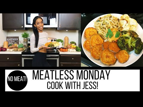 MEATLESS MONDAY MEAL IDEA // COOK WITH JESS // #fitmom // SAHM // COOK WITH ME 2018