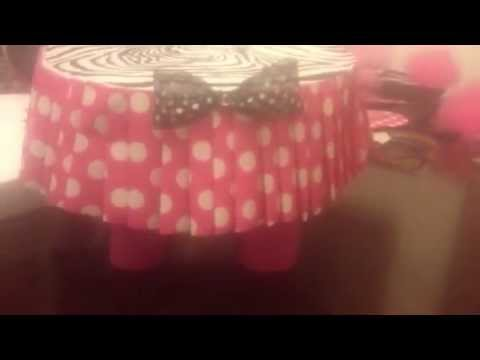 DIY Minnie Mouse Cake Stand YouTube