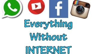How to use WhatsApp, Facebook, instagram & Everything without Internet