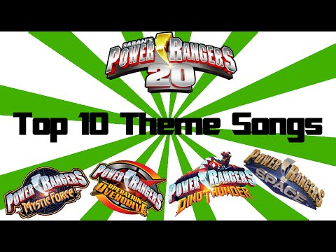 Top 10 Power Rangers Theme Songs of All Time!
