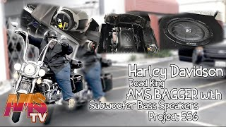 Harley Davidson Road King AMS BAGGER with Subwoofer Bass Speakers - Project 556