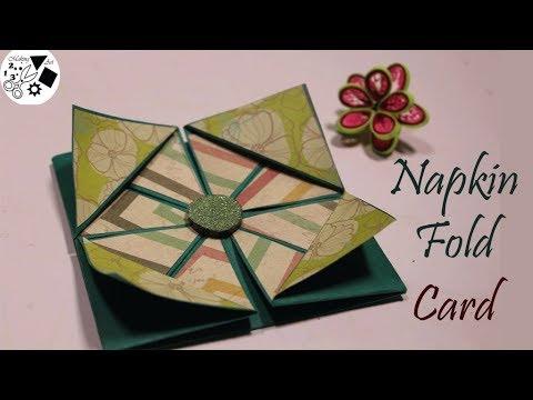 napkin fold card tutor - 480×360