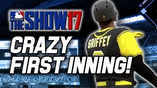FIRST INNING BLOWOUT! - MLB The Show 17 Diamond Dynasty Gameplay