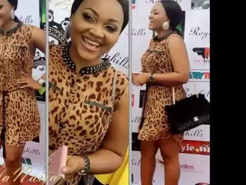 Mercy Aigbe diary:  Mercy styles in glamour Ankara and lace Aso- ebi.