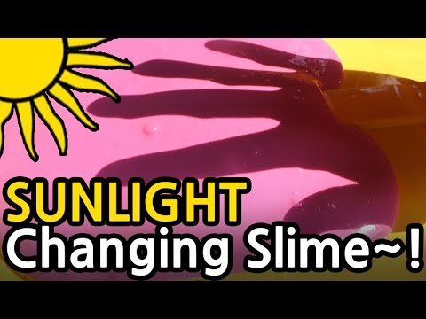 DIY☀️SUNLIGHT CHANGING SLIME COLOR~!!