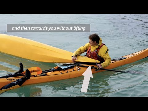 Sea Kayak T-Rescue: Deep Water Rescue / How to get back in your Kayak with help