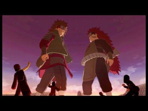 Choji and Choza Akimichi Team Up - Naruto Shippuden Ultimate Ninja Storm 3 Game - Gedo Statue |