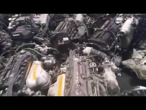 Container of Japanese used engines just unloaded