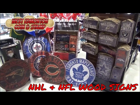 New Official NFL & NHL Wooden Signs Perfect For Decking Out Your Mancave!