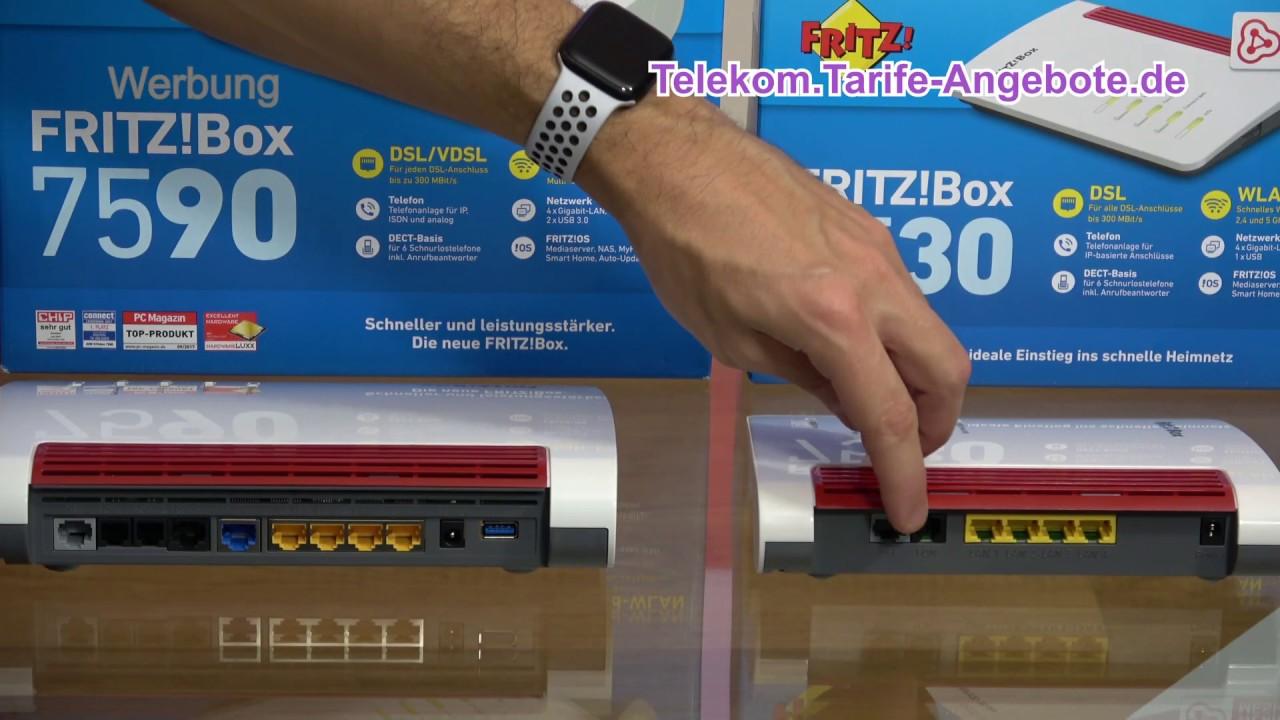 Vergleich AVM FritzBox 20 und 20 für Telekom MagentaZuhause DSL, VDSL  und Glasfaser Anschluss