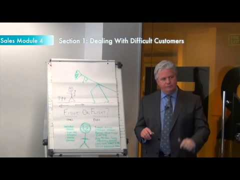 Sales training module 4, section 1: Dealing with difficult customers