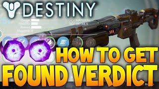 Destiny: The Found Verdict - Legendary Shotgun / Raid Reward / Best Setup & Review