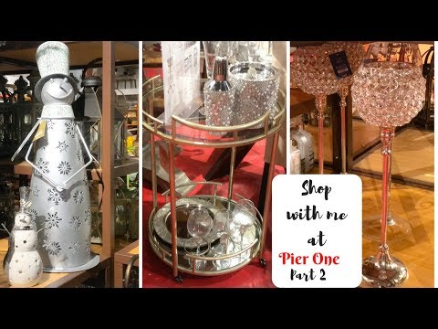 PIER ONE SHOP WITH ME PART TWO! CHRISTMAS, HOME DECOR  AND FURNISHINGS!!