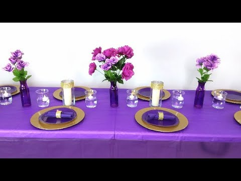 dollar-tree-diy-purple-and-gold-table-setting,-purple-and-gold-wedding,-purple-and-gold-baby-shower