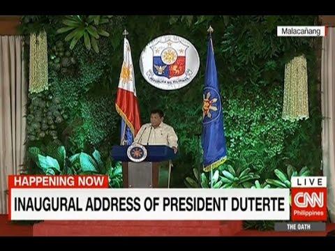 The inaugural address of President Rodrigo Duterte