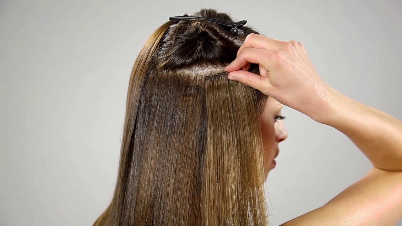 How To Attach Clip On Hair Extensions Youtube