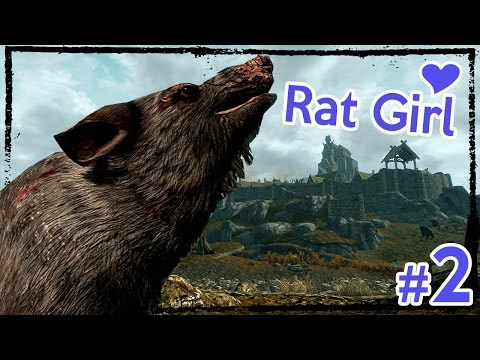 Modded Hardcore Skyrim: Rabecca the Rat Girl [Ep. 2]