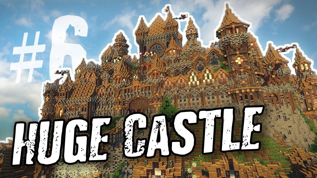 Minecraft Huge Medieval Castle Update 6 Youtube