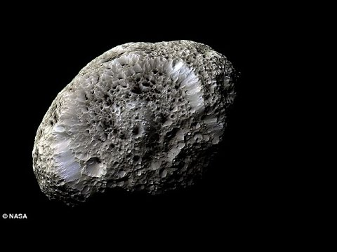 Farewell Hyperion! Saturn's bizarre 'sponge moon' is captured for the final time by Nasa's Cassini
