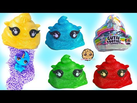 Slime Surprise Poopsies Cutie Tooties Blind Bags ! Cookie Swirl C Video