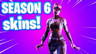 Fortnite SEASON 6 BATTLE PASS SKINS FIRST LOOK!