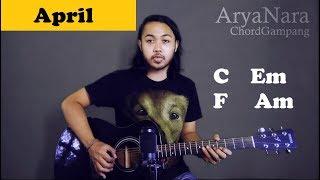 Chord Gampang (April - Fiersa Besari) by Arya Nara (Tutorial Gitar) Untuk Pemula
