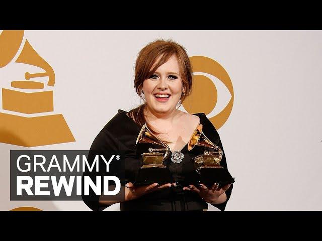 Watch Adele Win Best New Artist In 2009 While On Cloud Nine | GRAMMY Rewind