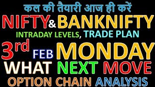 Bank Nifty & Nifty tomorrow 3rd February 2020 Daily Chart Analysis SIMPLE ANALYSIS POWERFUL RESULTS