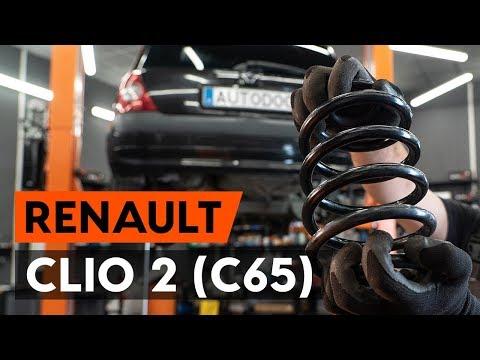 Как заменить пружины задней подвескиRENAULT CLIO 2 (C65) [ВИДЕОУРОК AUTODOC]